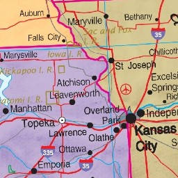 USA Map Political
